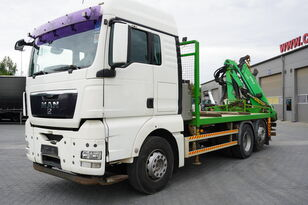 бортовой грузовик MAN TGX 26.440 XLX  ,E5 , steer axle , Crane Palfinger Epilson + rem