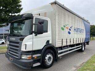 грузовик штора SCANIA P 230 + EURO 4 + LIFT + 8.20 METER BOX