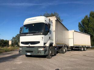 тентованный грузовик RENAULT PREMIUM  420 DCI + biga Omar