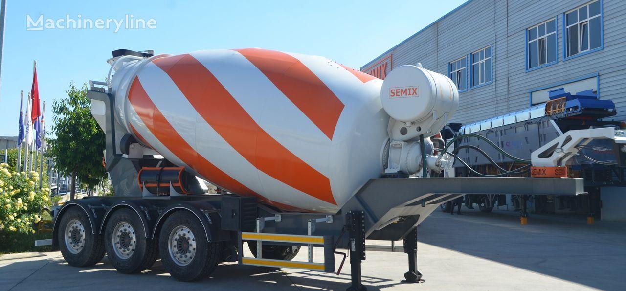 новый полуприцеп бетоносмеситель SEMIX