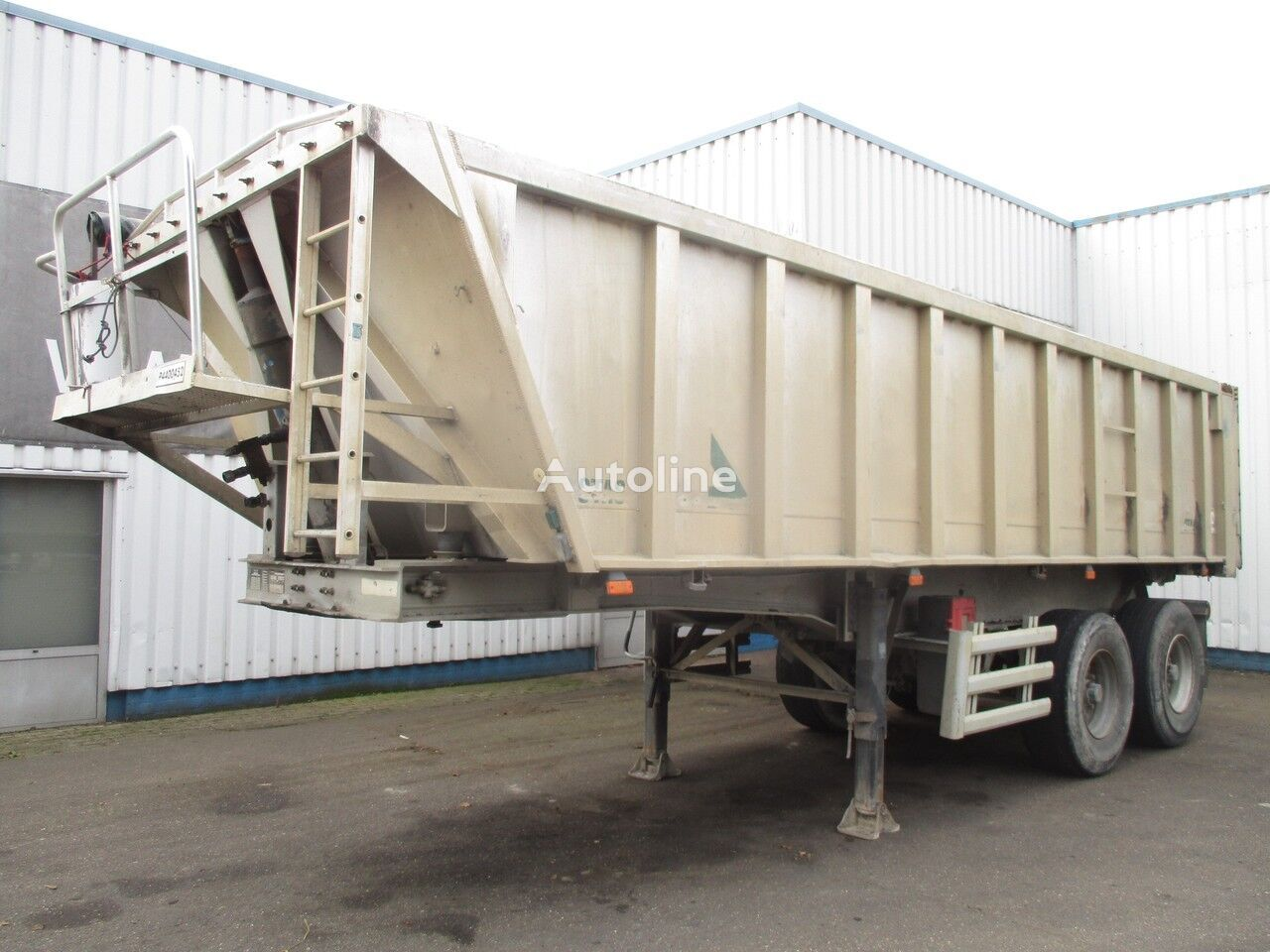 полуприцеп самосвал STAS S2SA233K , tipper trailer , spring suspension