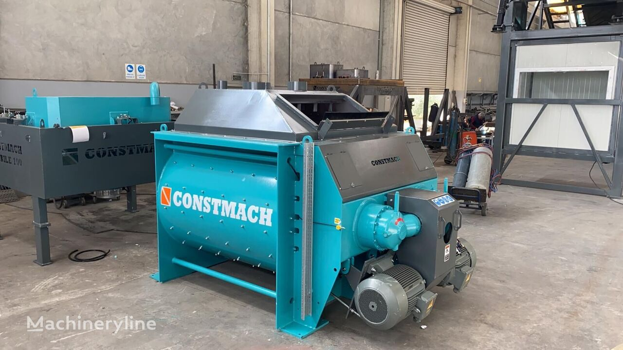 новый бетонный завод CONSTMACH 1 m3 TWIN SHAFT MIXER IS READY AT STOCK