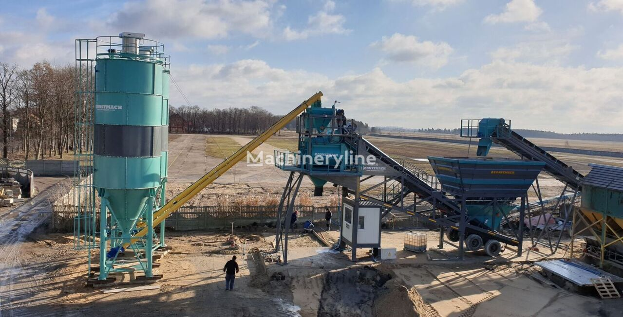 новый бетонный завод CONSTMACH 100 m3/h MOBILE CONCRETE PLANT, 2 YEARS WARRANTY, CE CERTIFIED,T