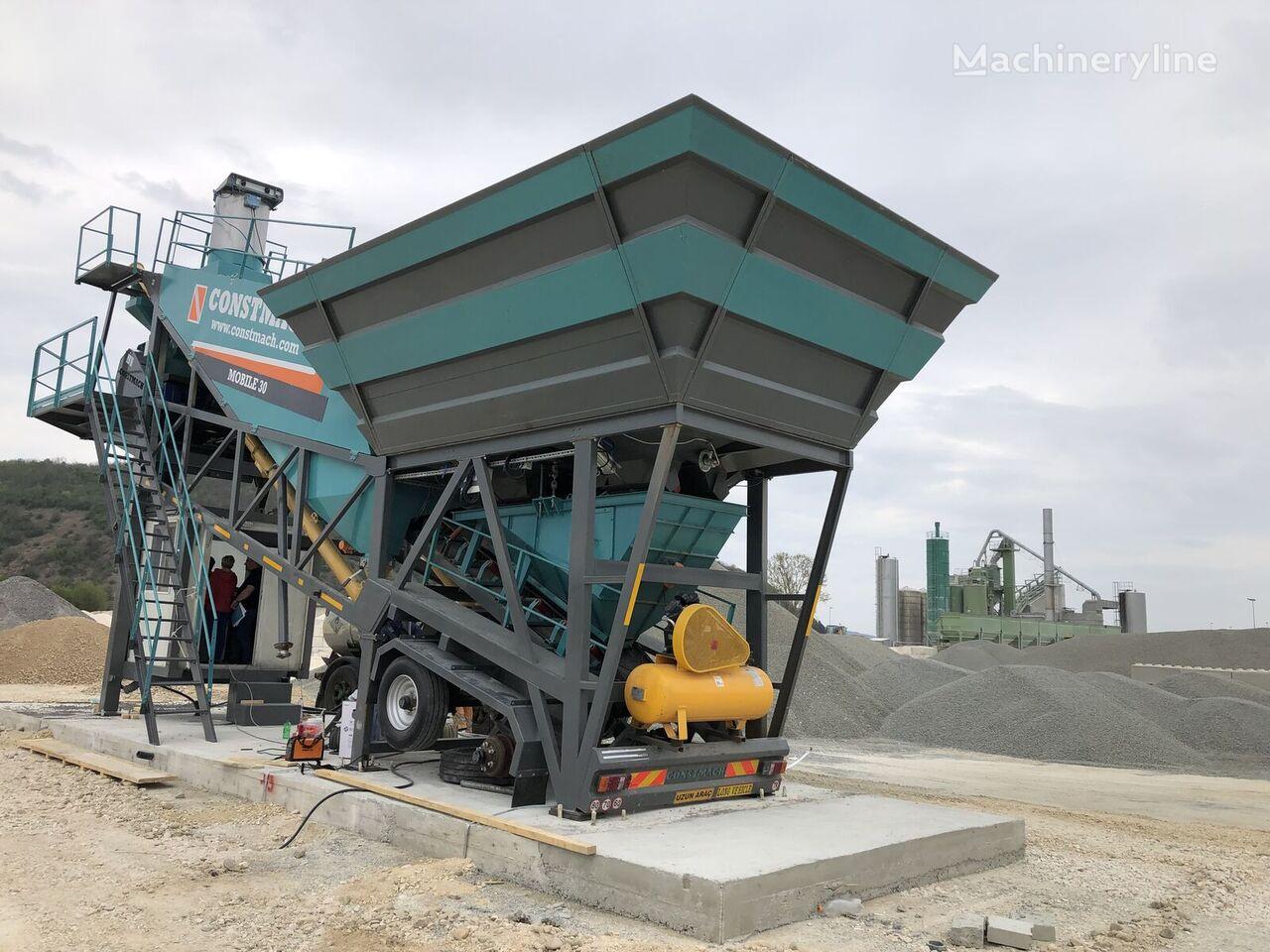 новый бетонный завод CONSTMACH 30 m3/h MOBILE CONCRETE PLANT, BEST PRICE & QUALITY