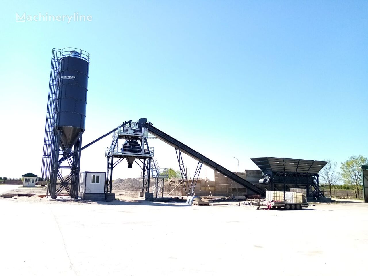 новый бетонный завод CONSTMACH DELIVERY FROM STOCK! FIXED TYPE CONCRETE BATCHING PLANT 100 m3/h